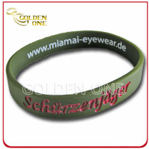 Promotion Gift Personalized Double Side Printed Logo Silicone Bracelet pictures & photos