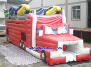 Outdoor Inflatable Water Slide with Obstacle Toy (B095) pictures & photos