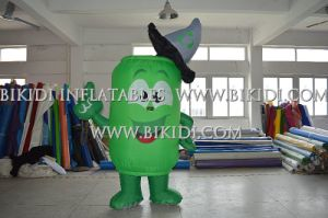 Customized Inflatable Bottle Costume Inflatable Mascot Walking Costume for Sale pictures & photos