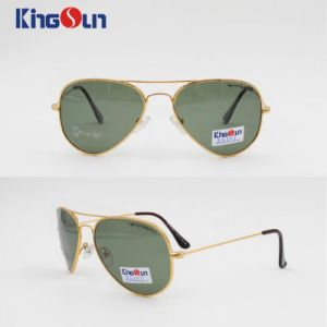 Rb Shape Metal Sunglasses Classical Style with Glass Lens Ks1117 pictures & photos