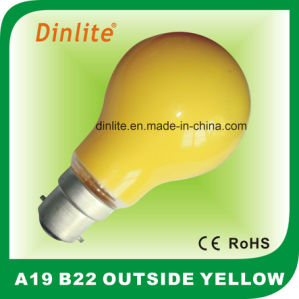 A19 Incandescent Outside Yellow Light pictures & photos