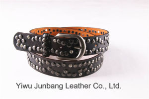 Fashion Men′s Stud Belt Rivet Belt-Jbe1619 pictures & photos