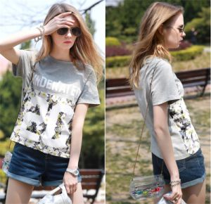Women′s Loose Printing T-Shirt in Summer pictures & photos