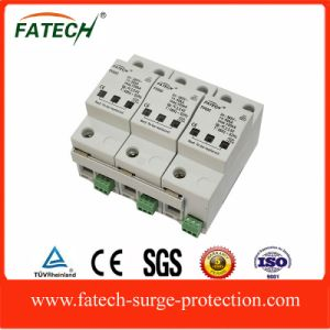 100kA 3 Poles Class C Surge Protector SPD pictures & photos