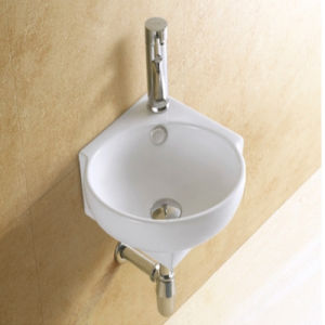 Corner Wall Mounted Small Size Art Ceramic Basin pictures & photos