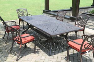 High-Quality Cast Aluminum Dining Set Outdoor Furniture pictures & photos