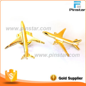 Wholesale Custom Made Gold 3D Boeing 777 Airplane Lapel Pin pictures & photos