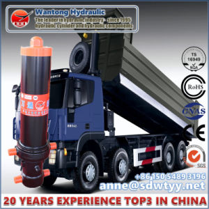 Wantong Front-End Hydraulic Cylinder for Dump Truck Cylinder with Outer Cover pictures & photos