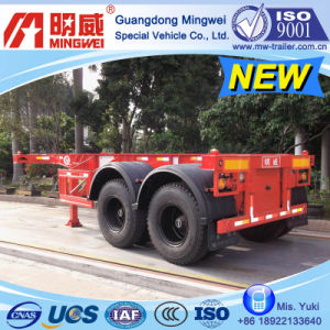 CCC/ ISO/ 20 Ft 2-Axles Container Transport Skelleton Semi Trailer (D)
