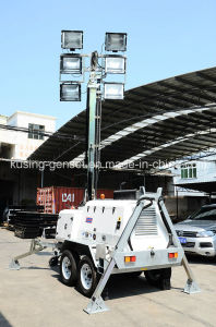 H1000 Series with 15kVA 404D-22g Mobile Light Tower Generator Set/Diesel Generator