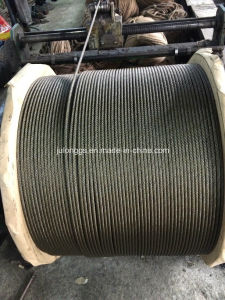 8*19s+FC Elevator Wiire Rope, Black Wire Rope, Ungalvanized Steel Wire Rope pictures & photos