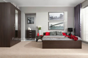 Modern Full Bedroom Set in Wenge Color (HF-EY0731B) pictures & photos