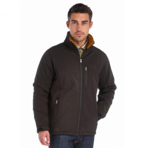 Men′s Softshell Jacket Backed with Sherpa Fleece pictures & photos