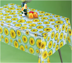 PVC Transparent Printed Table Cloth in Roll Wholesale pictures & photos