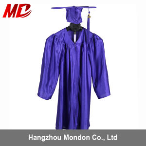 Kindergarten Graduation Gowns and Cap Shiny Royal Blue pictures & photos