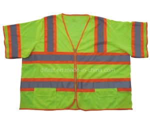 Orange Hi Visibility Reflective Vest with Short Sleeve (DFJ012) pictures & photos