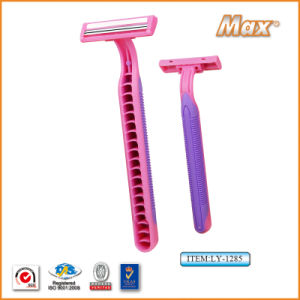 Hot Twin Stainless Steel Blade Disposable Shaving Razor (LY-1285) pictures & photos