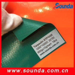 China Factory Price PVC 1000d 20*20 Tarpaulin Roll pictures & photos