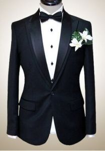 Half Canvas Construction Men Solid Color Tuxedo Suit pictures & photos