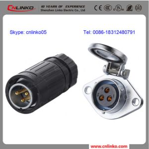 CE Approved Circular 20AMP Waterproof 3 Pin LED Cabinet Connector pictures & photos