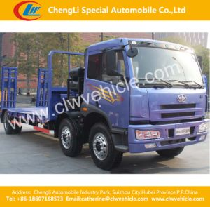 Tri Axles Flatbed Wrecker/Flatbed Transportation Trucks pictures & photos