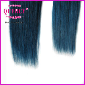 "8A Quercy Hair 100% /Indian/Peruvian/Malaysian Hair 8""-32"" #750 Blue Color Human Hair pictures & photos"