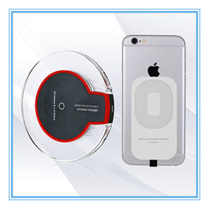 Qi Wireless Charging Pad+Charger Receiver Module for iPhone pictures & photos