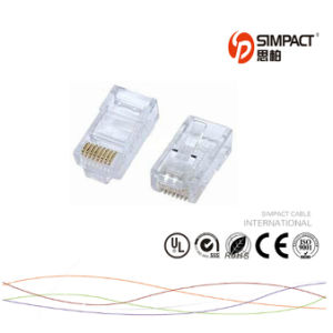 RoHS Certificated UTP Cat5e Connector RJ45 pictures & photos