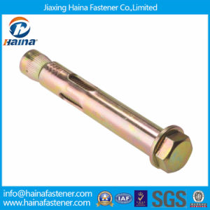 China Supplier 4.8 Grade Color Plated Sleeve Anchor with Flange Nut pictures & photos