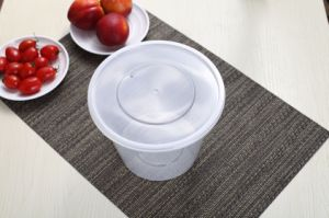 PP Plastic Type and Plastic Material Round Plastic Container with Lid pictures & photos