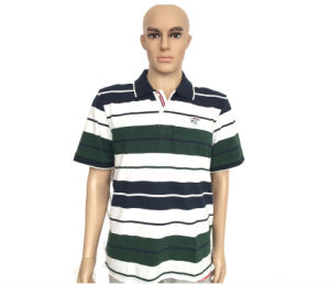 Summer Colorful Stripe Polo Shirts for Men pictures & photos