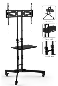 Wheeled TV Mount Stand with Self-Locking (PSF321) pictures & photos