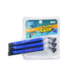 Two Blade Disposable Shaving Razor with 3PC Double Blister Packaging (PK-10) pictures & photos