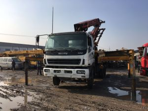 37m Japan 26ton/8*4-LHD-Drive Used Isuzu-Chassis Elephant-Brand Putzmeister Concrete-Delivery Pump Truck pictures & photos