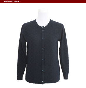 Gn1613 Yak/Merino Wool Long Sleeve Round Neck Cardigan spring and Autumn Women′s Sweater pictures & photos