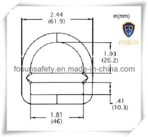 ISO 9001 High Quality Forged Steel Zinc D-Rings pictures & photos