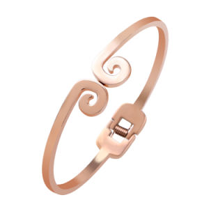 Stainless Steel Bangle Fashion Rose Plated Jewelry Bangle pictures & photos