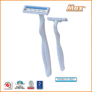 Plastic Platinum Coated Twin Stainless Steel Blade Disposable Razor (LY-2022) pictures & photos