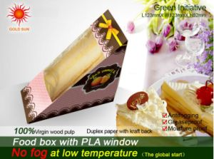 Triangle Paper Food Box Packaging with Anti-Fog Window pictures & photos