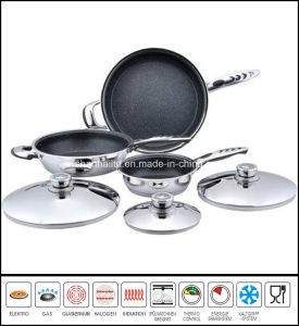 6PCS Nonstick Frypan Set Stainless Steel pictures & photos