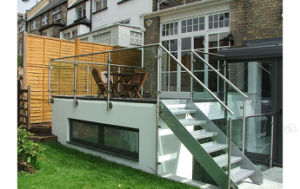 Outside Side Mounted Stainless Steel Glass Balustrade pictures & photos