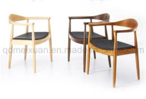 Solid Wood Ash Wood Dining Chairs Computer Chairs Leather Chairs (M-X2497) pictures & photos