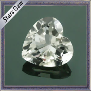 High Quality Brilliant Natural Cut Heart Shape Natural White Topaz pictures & photos