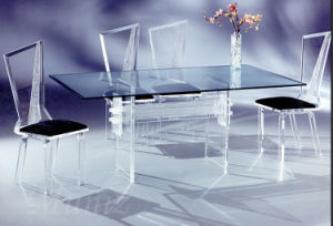 Acrylic Glass Wedding Table and Chair Furniture Sets for Sale
