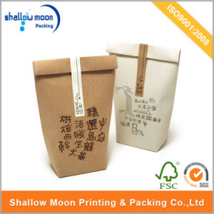 Customized Kraft Printing Tea Packaging Paper Bag with Sticker (QYCI15211) pictures & photos