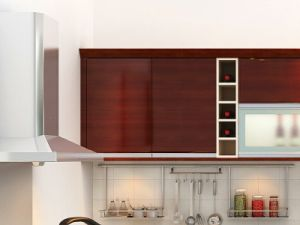 Red Lacquer Kitchen Cabinet Furnitures pictures & photos