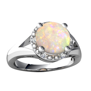 Guangzhou Supplier Three Opal Stone Ring pictures & photos