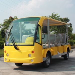 14 People Battery Powered Electric Shuttle Resort Cart (DN-14) pictures & photos