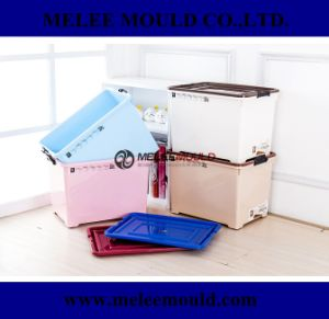 Plastic 70L Stackable Container with Wheel Mould pictures & photos