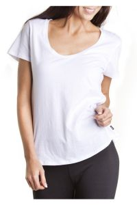 Custom Women Short Sleevee Relax Scoop Cotton T Shirt (A483) pictures & photos